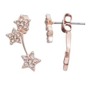 LC Runway Collection Star Front Back Earrings